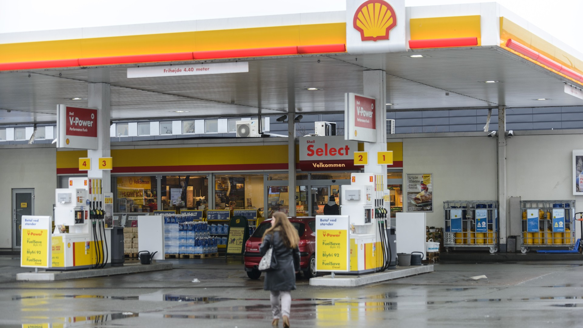 shell gas station closed cash handling safepay