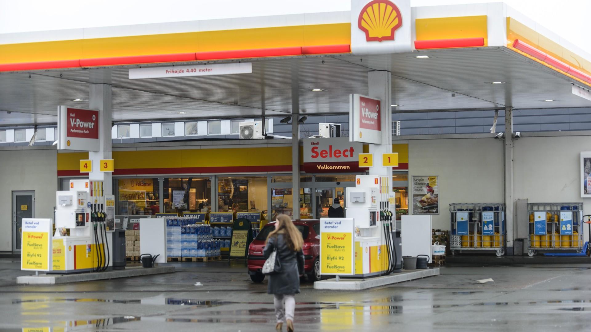 shell gas station cash handling