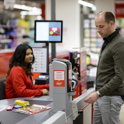 Bargeldabwicklung in Supermärkten