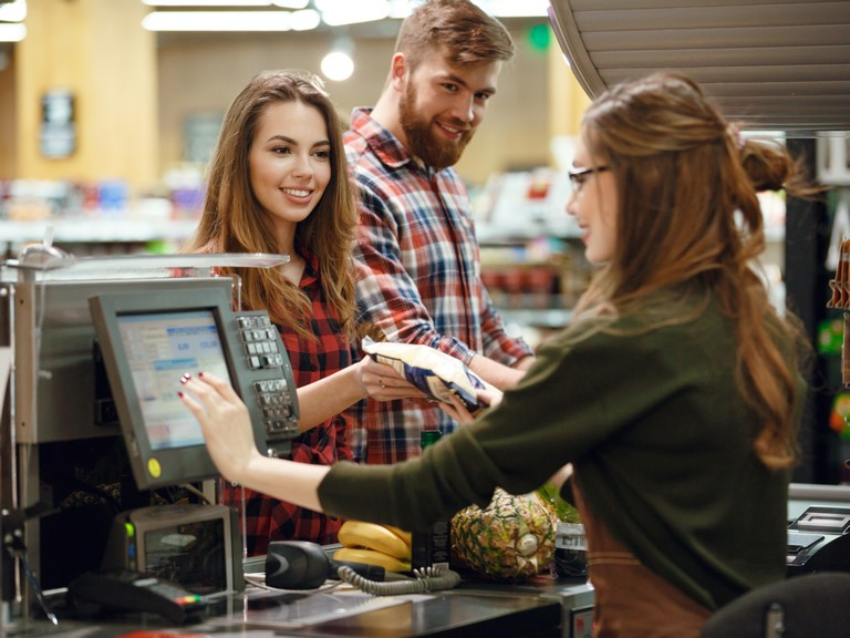 retail supermarket cash handling