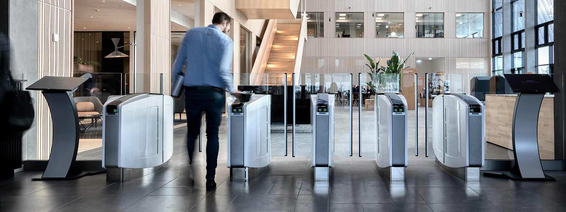Gunnebo Speed Gates at SWECO, Copenhagen