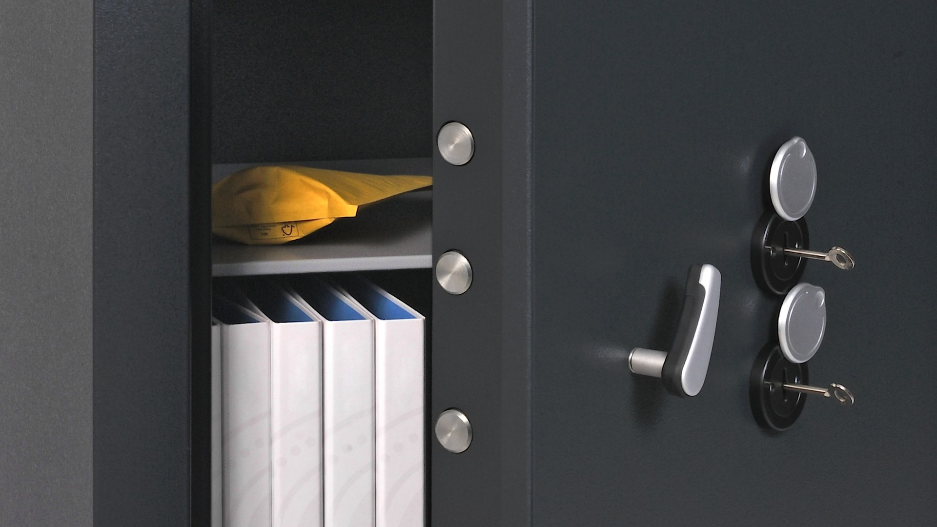 Door and handle
