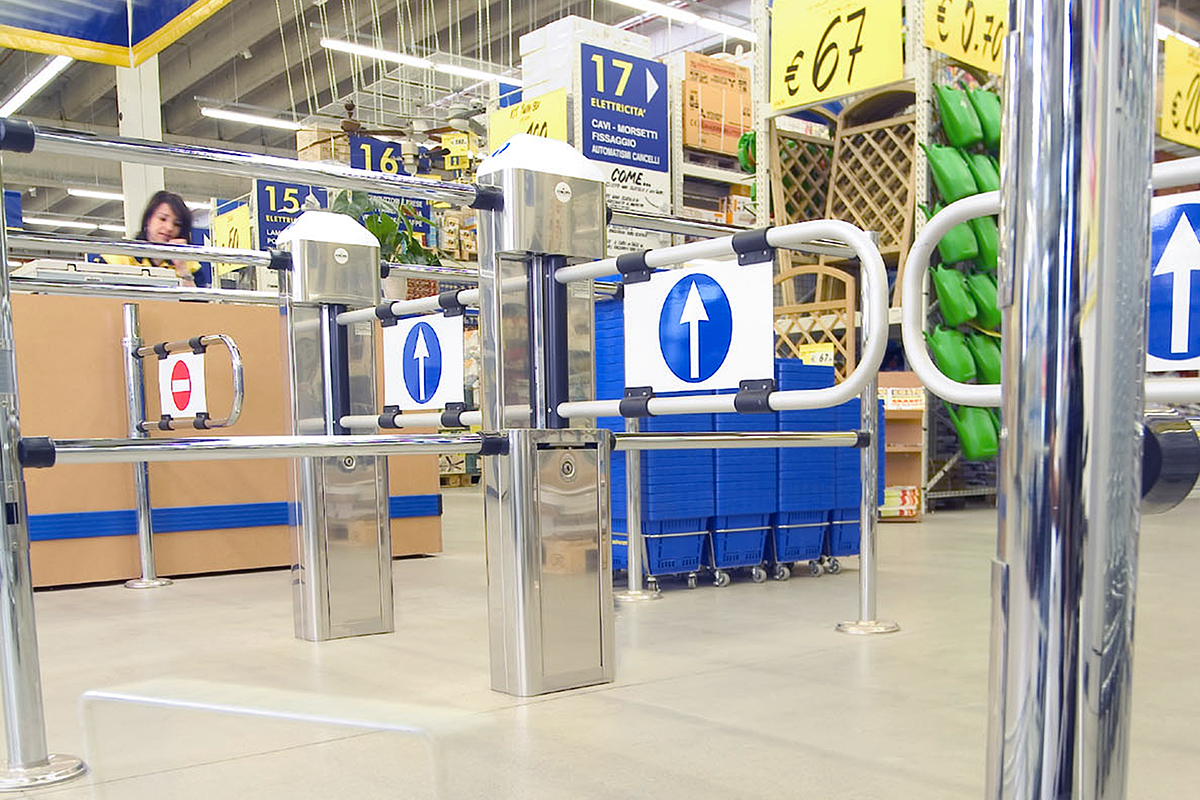 Retail Entrance Gates and Shop Turnstiles