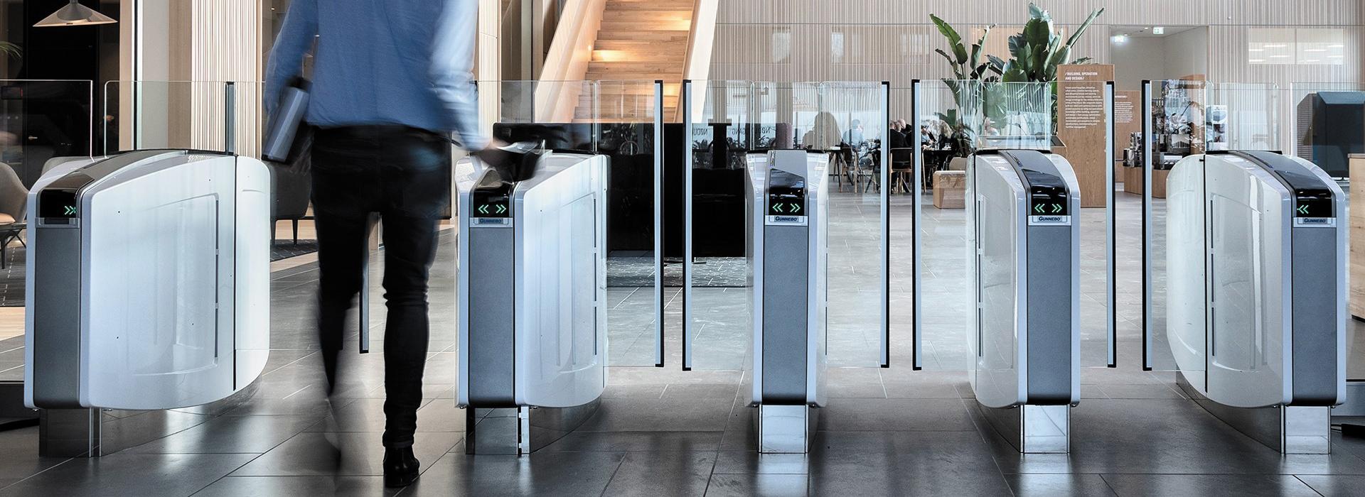 Bramki wejściowe do eleganckich budynków biurowych